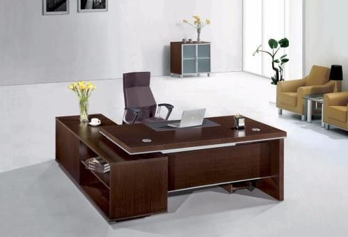 Anti Dirty Wood Furniture Computer Desk , High End Managing Director Office Furniture