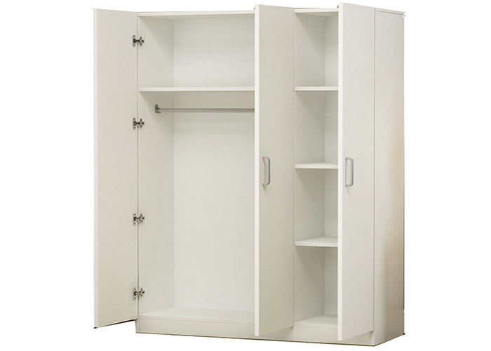 Environmental Protection Particle Board Wardrobe Furniture White Sliding Door